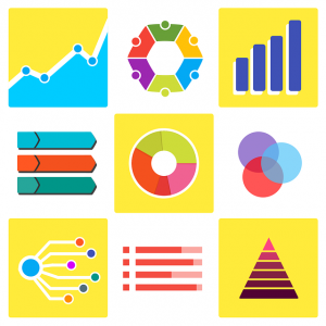 image with various types of charts such as pie chart, bar chart, etc.