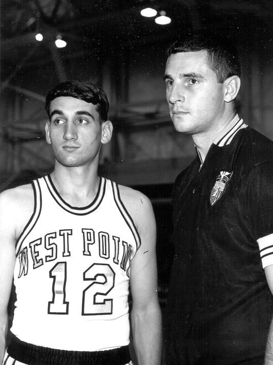 Mike Krzyzewski, point guard at Army with Bob Knight, coach at Army in 1960's.